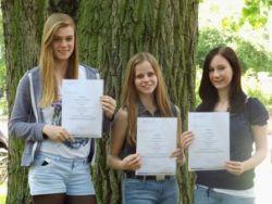 Unter den Besten des Landes:  Lena Bieker, Ronja Martini und Anna-Lena Wintergalen