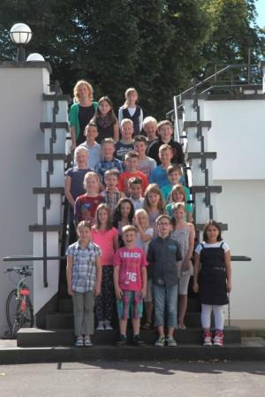 Klasse 5b mit Klassenlehrerin M. Dauter