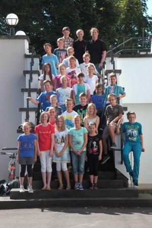 Klasse 5c mit Klassenlehrer B. Thielmann