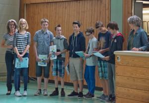 HEUREKA-Preisträger der Jgst.7 2014-15