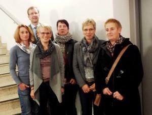 Schulleiter Markuis Ratajski mit dem alten und dem neuen Vorstand der Schulpflegschaft: (v.l.) Helen Asbeck, Ute Baltes, Ellen Möncks, Bianca Griese und Marcella Voll.