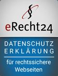 eRecht24 eRecht24 – Datenschutz – für rechtssichere Webseiten– Datenschutz – für rechtssichere Webseiten